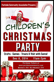 kids christmas party poster ne wall