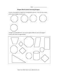 shapes kindergarten worksheets koogra