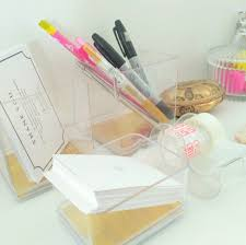 Lucite Desk Accessories The Portly Diy Easy Chic Desk Accessories With Lucite Desk