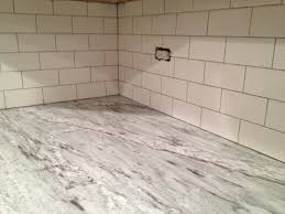 Marble Kitchen Backsplash Kitchen Style Marble Countertop Awesome White Subway Tile