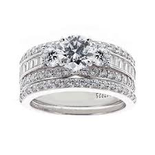jcpenney wedding ring sets diamonart stainless steel cubic zirconia bridal ring set
