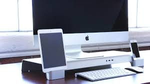 Desktop Computer Stands A Multifunctional Imac Stand For All Your Desktop Wants