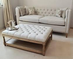 White Leather Ottoman Furniture Extraordinary Pure White Cocktail Ottoman Home Design