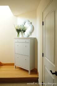 sarah m dorsey designs ikea hemnes shoe cabinet renovation