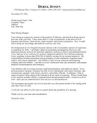 corporate attorney cover letter