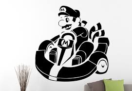 wall decals stickers home decor home furniture diy super mario wall sticker vinyl decal video game art kids room nursery decor 3edc