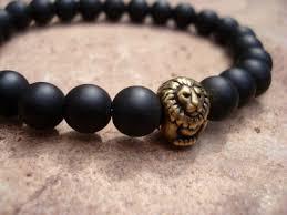 bead bracelet mens images Black onyx bracelet lion bracelet onyx bracelet bracelets jpg
