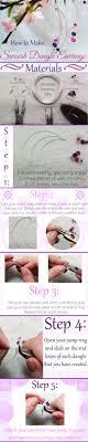 make dangle earrings how to make swoosh dangle earrings and beading blogs