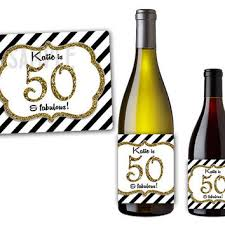 50th birthday party supplies glitter stripes wine bottle from partyprintexpress on
