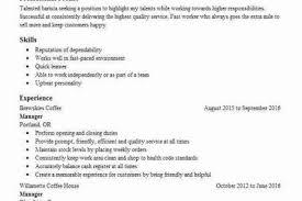 Starbucks Resume Barista Resume Sample Barista Resume Samples Visualcv Resume