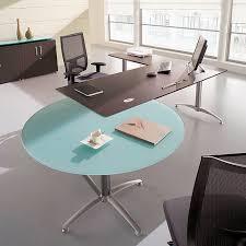 table de bureau en verre bureau et retour direction bois polyandre convivialité verre
