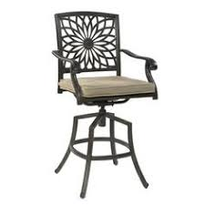 Bar Height Swivel Patio Chairs Allen Roth Set Of 4 Safford Aluminum Patio Bar Height Patio