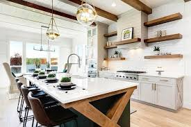 modern country kitchen with oak cabinets farmhouse kitchen cabinets door styles colors ideas