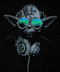 star wars l shade yoda dj hip hop jedi master headphones green glasses man t shirt