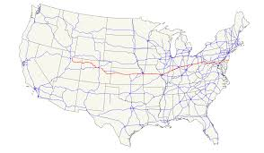 Historic Route 66 Map by U S Route 40 Wikipedia