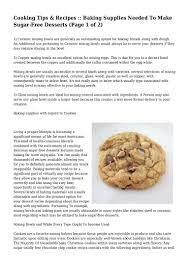 cooking tips u0026 recipes baking supplies needed to make sugar free d u2026