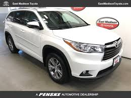 toyota highlander 2015 2015 used toyota highlander awd 4dr v6 xle at east madison toyota