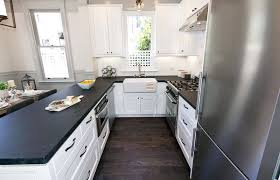 Black Granite Kitchen Countertops by Black Granite Kitchen Countertops With White Cabinets Monsterlune