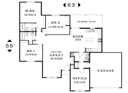 Small One Level House Plans Glamorous Single Story House Plans With 3 Bedrooms Ideas Best