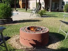 Make Your Own Firepit Make Your Own Pit For 50 Using Concrete Tree Rings Diy