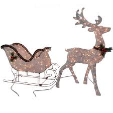Outdoor Reindeer Decorations Outdoor Lighted Sleigh Part 33 Gemmy Christmas Airblown