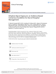d agement bureau ethylene glycol exposure an evidence based consensus guideline for ou
