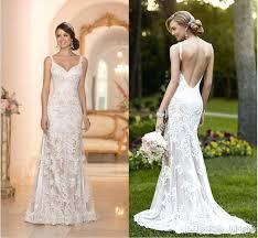 sle wedding dresses backless lace wedding dress ostinter info