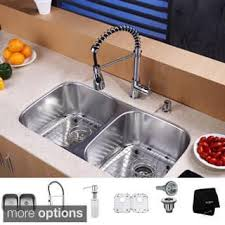 Kitchen Faucets And Sinks Undermount Sink U0026 Faucet Sets For Less Overstock Com