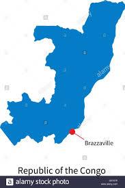 Republic Of Congo Map Vector Map Republic Of The Congo And Capital City Brazzaville