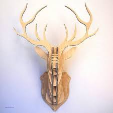 wall decor beautiful wooden stag wall decoration wooden