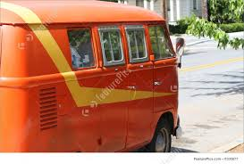 orange volkswagen van picture of volkswagen hippie van