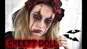 creepy doll make up halloween youtube