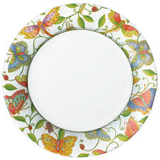 Wicker Paper Plate Holders Wholesale Parvaneh U0027s Garden Paper Dinner Plates 8 Per Package Caspari