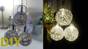 Yarn Chandelier by Diy Yarn Ball Lights Decoration Battery Operated Youtube
