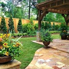 Backyard Garden Design Ideas Landscape Designs For Backyard Popular Of Backyard Fence