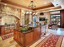 make kitchen from stone more cheerful kitchen design