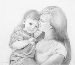 mother and baby drawing clipart library free clipart images