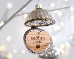 Baby First Christmas Bauble Personalised by Christmas Baubles Etsy