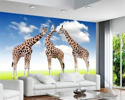 beibehang grass giraffe 3 d wallpaper photo home decoration mural