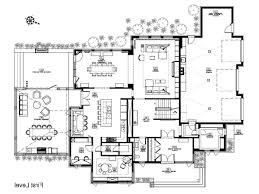 blueprint plan decoration ultra modern home floor plans house