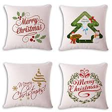 Christmas Decorative Pillow Cases by Bpfy 4 Pack Christmas Decorations Home Decor Merry Christmas