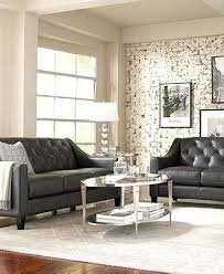 Gray Leather Sofa Gray Leather Sofa Decorating Ideas Ezhandui
