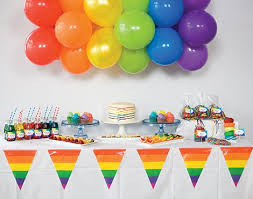 Rainbow Party Decorations Rainbow Birthday Theme Childrens Birthday Party Theme For Boys