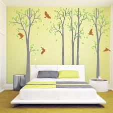 huge white tree wall decal vinyl stickers birds decals baby