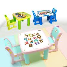 Drawing Desk Kids Qoo10 Ifam Kids Table Stool Set Pororo Table Study Table Drawing