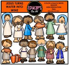 bible stories u2013 jesus turns water into wine clip art bundle color