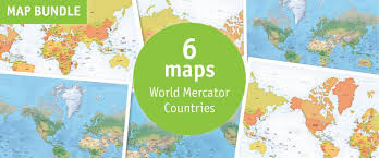 Mercator World Map by Buy 6 Vector World Maps Mercator Lowest Price 63 Off