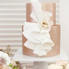 modern wedding cakes wedding cakes wrapped in modern ruffles brides