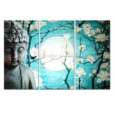 2017 buddha canvas art magnolia flowers canvas painting home decor