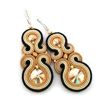 statement earrings soutache earrings statement earrings sabo design